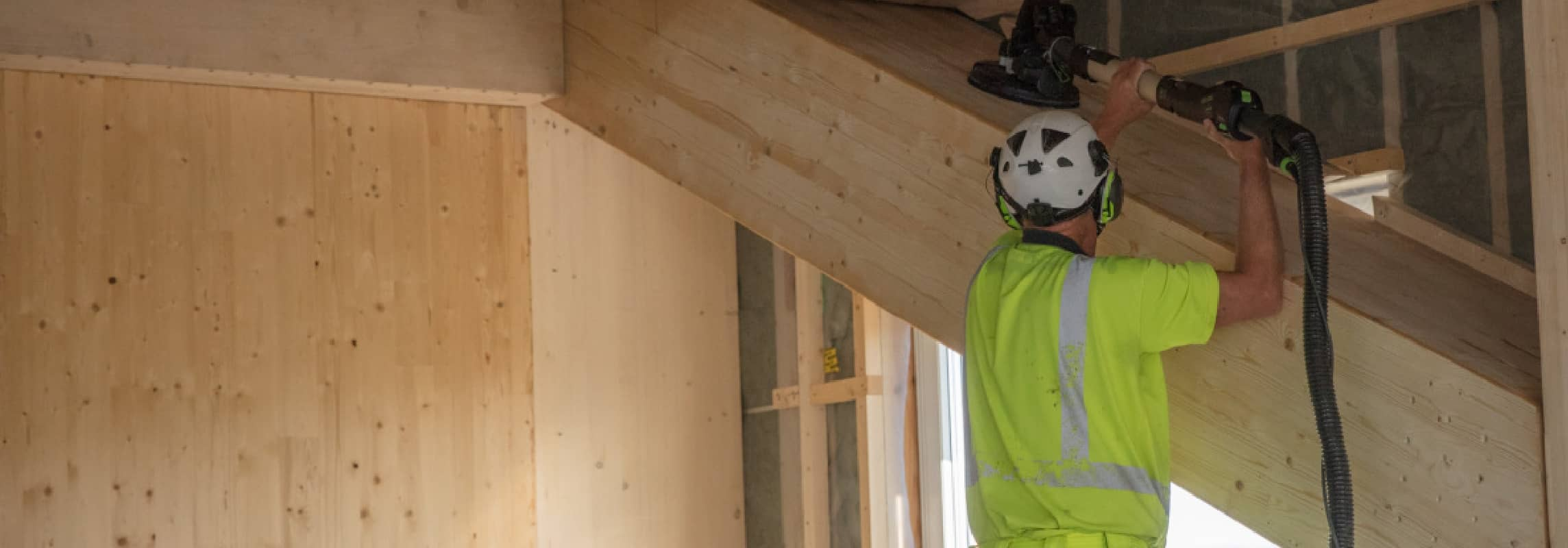 Construction worker building home