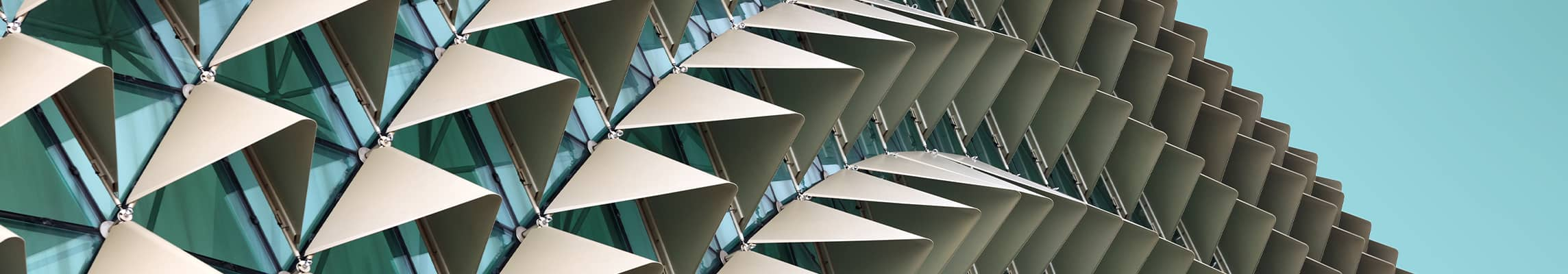 Abstract view of building exterior