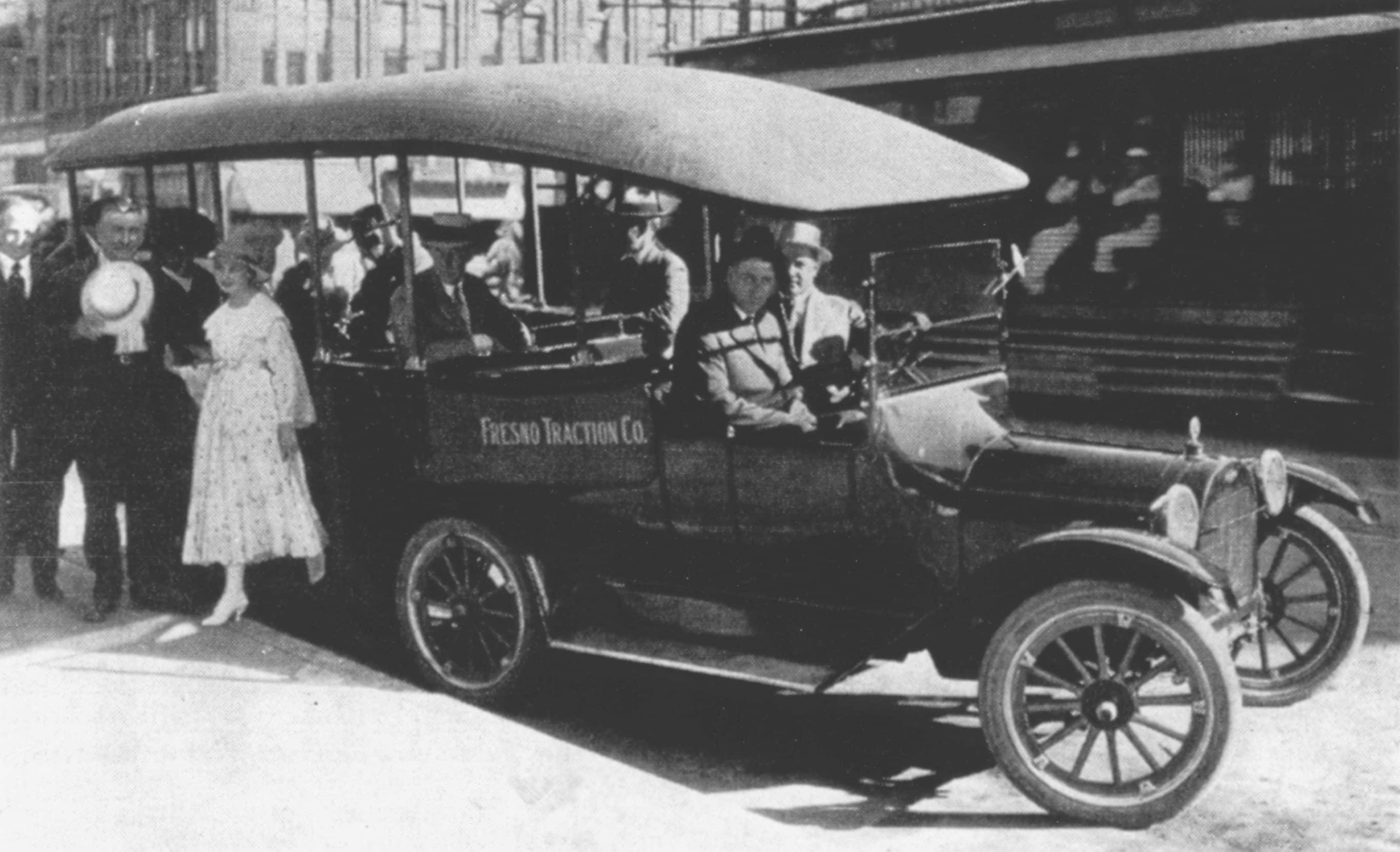 Jitney Historic Car with People