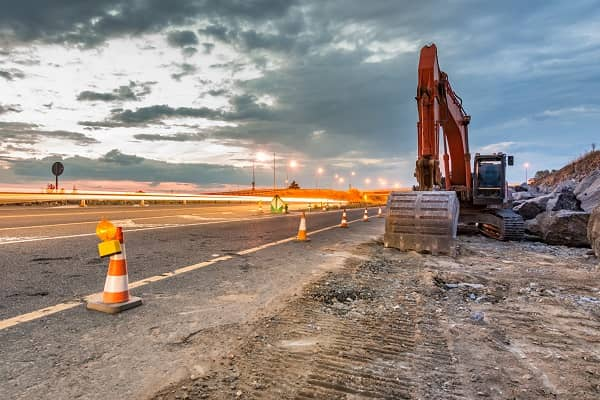 Construction work zone