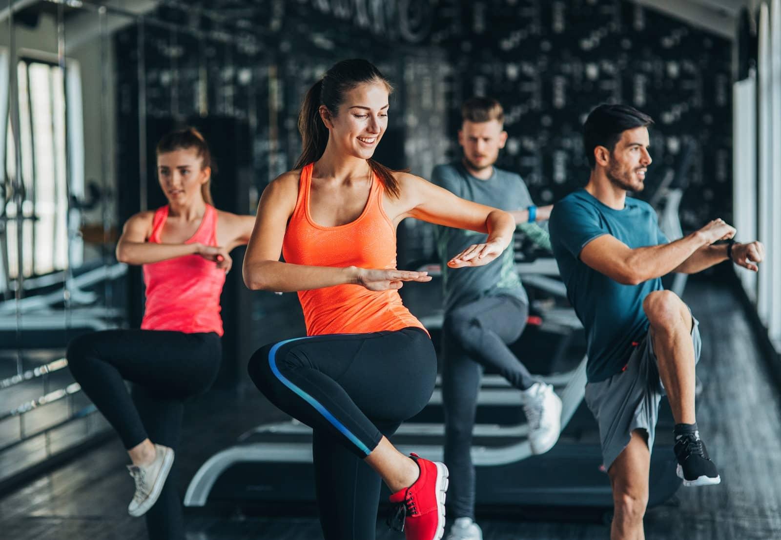 health club fitness class