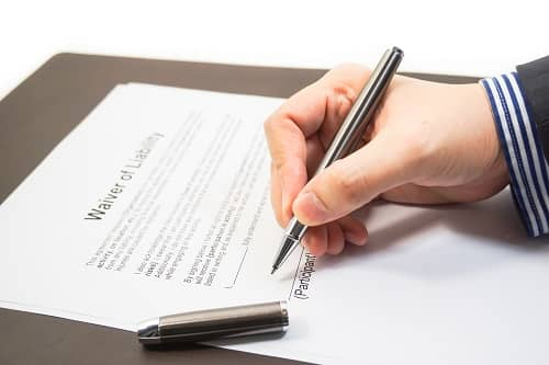 Signing a waiver