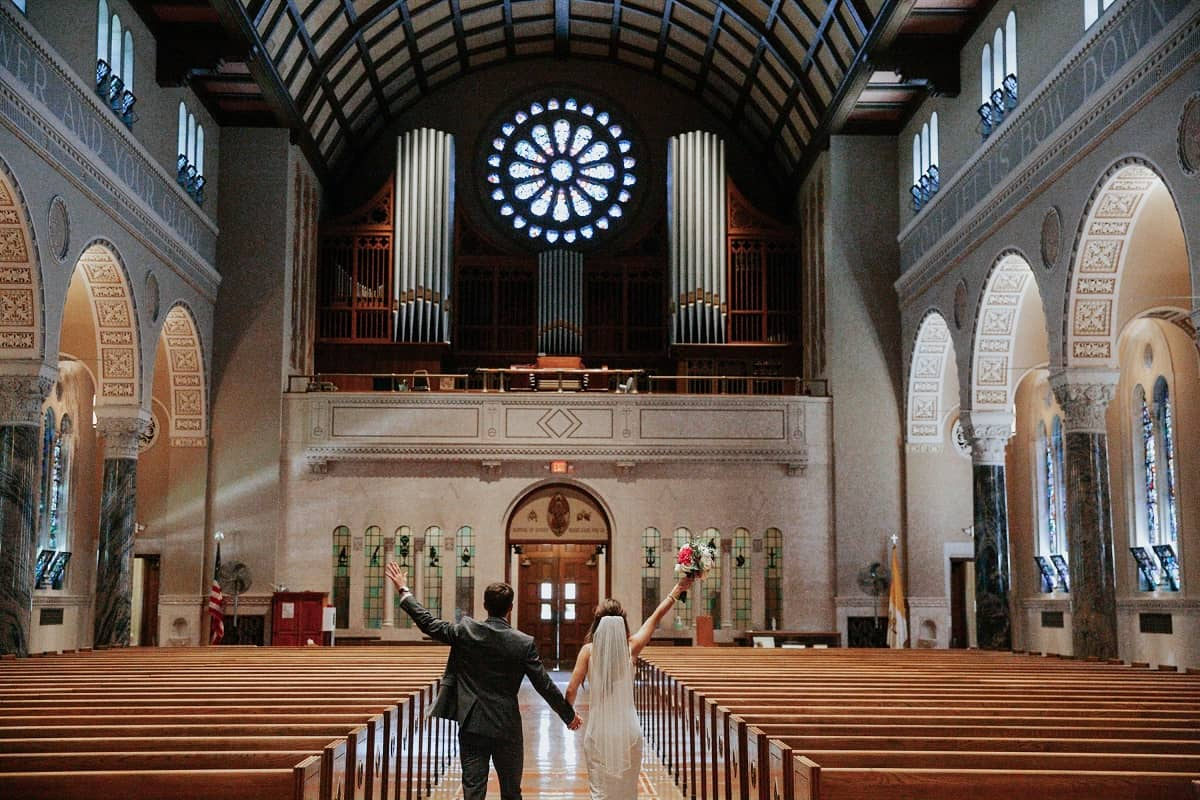 anonymous church wedding