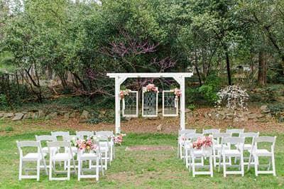 Empty small wedding venue
