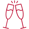 red champagne icon