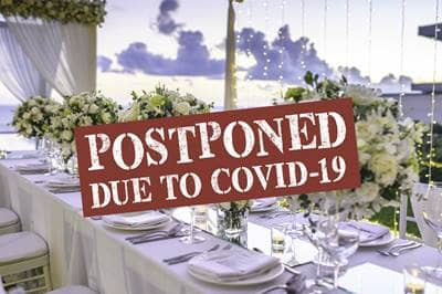 wedding postponed