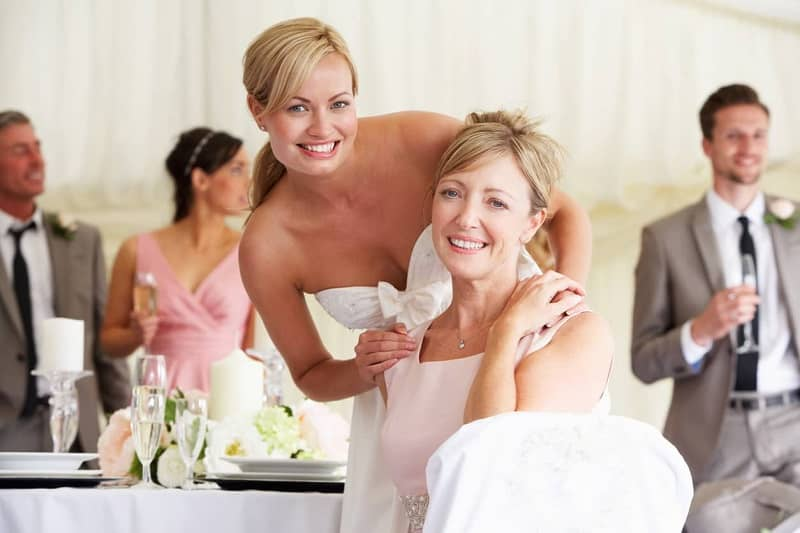 Daughter and mother of the bride