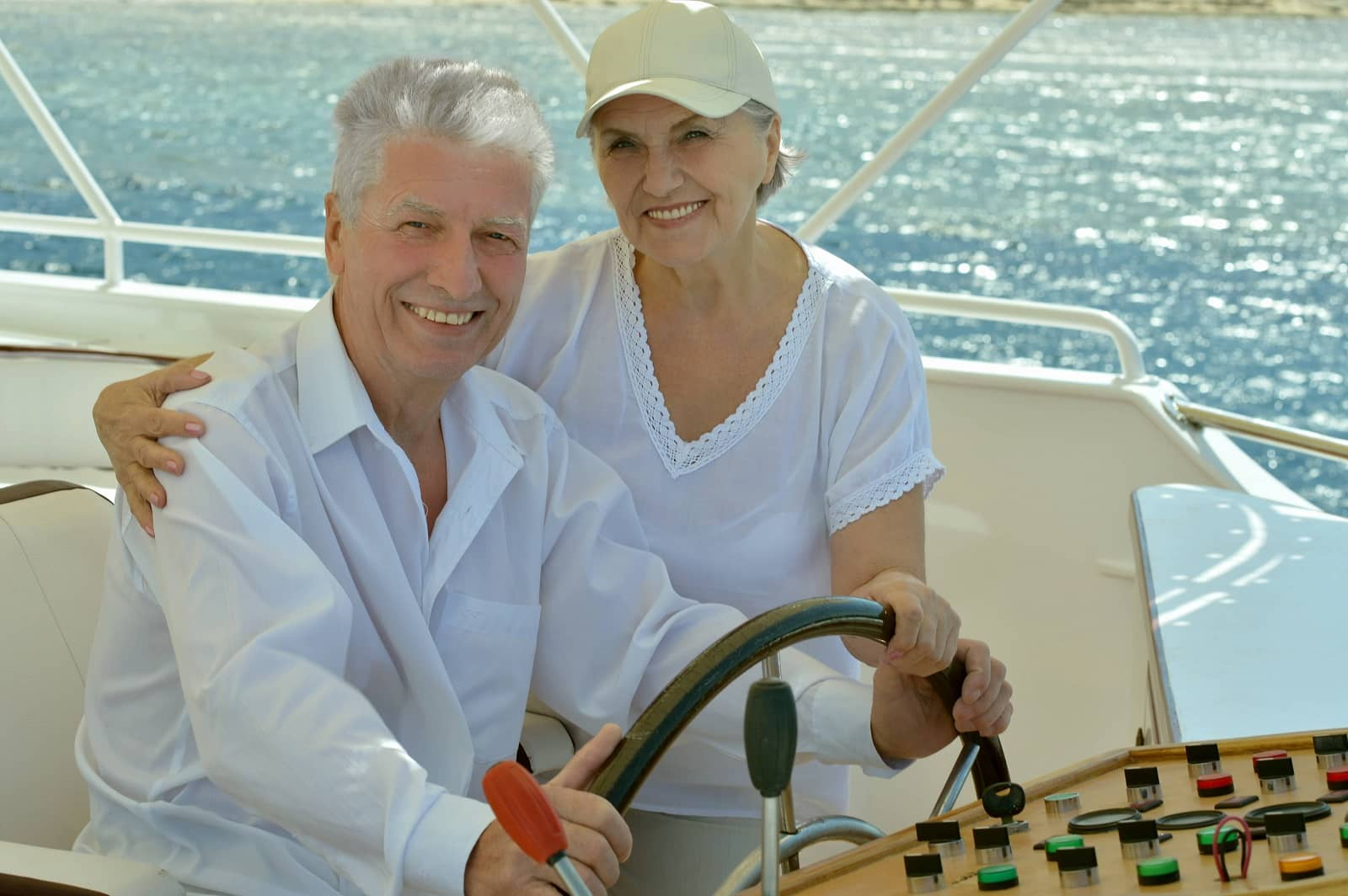 Older Couple On Boat