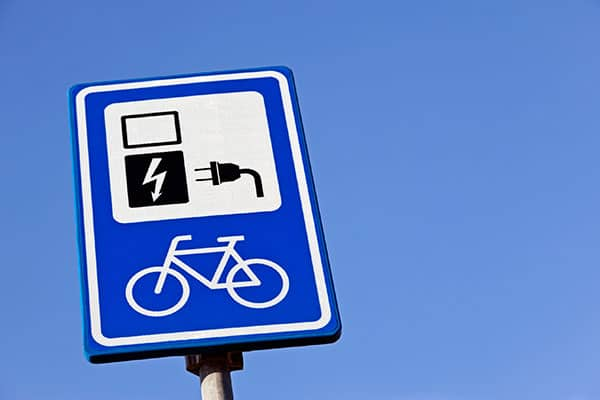 Electric bike charing station sign