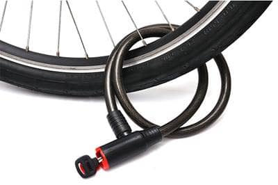 Bicycle tire with bike lock