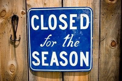closed for season sign