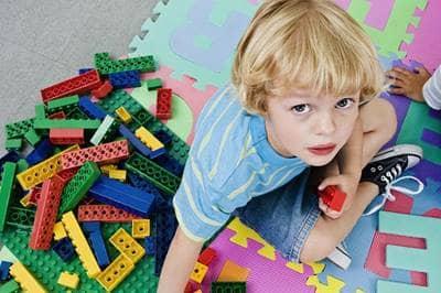 Legos on floor