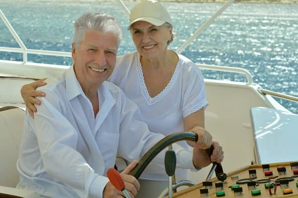 Couple on a new boat