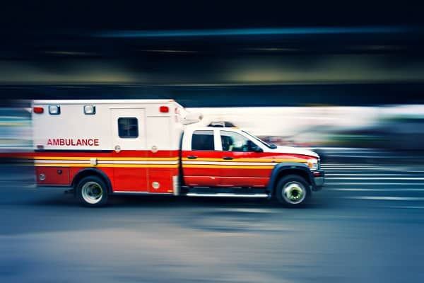 Ambulance speeding