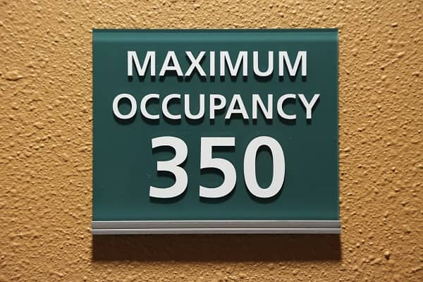 Max occupancy sign