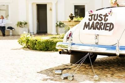 Just Married Wedding Car